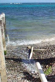 Runoff from this pipe in the U.S. Virgin Islands spews directly into the ocean only a few hundred yards from reefs.jpg