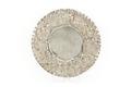 Runt fat av silver med rikt drivet bräm, blommor, frukter och blad - Skoklosters slott - 91951.tif
