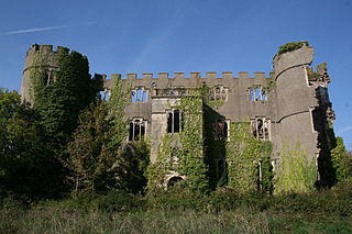 Ruperra Castle Manor house and mock castle in Wales