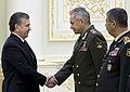 Russian Defence Minister meets President of Uzbekistan 02.jpg