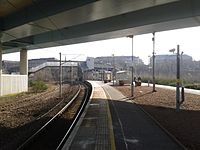South eastward view towards the WCML, 2016