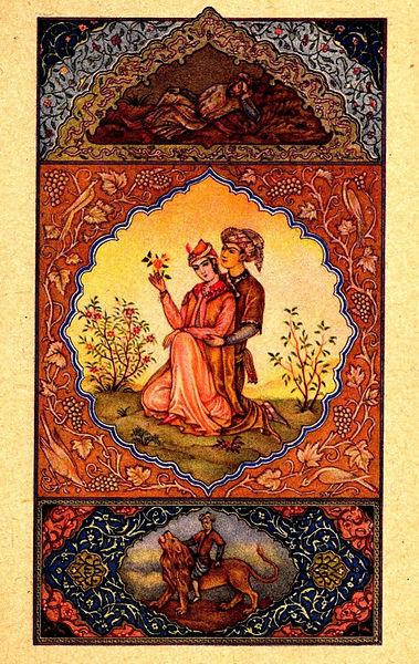 Пауль Зенкер, Иллюстрация к поэме Саади 'Розовый Сад', 1942