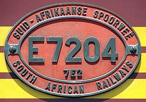 South African Class 7E2, Series 2 - Image: SAR Class 7E2 Series 2 E7204 ID