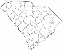 Location of Rowesville, South Carolina