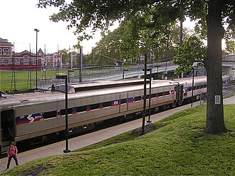 Media/Elwyn Line - SEPTA regional rail train at 49th Street Station on the Media/Elwyn line.