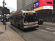 SEPTA bus 8522 at Market Street and 12th Street.jpeg
