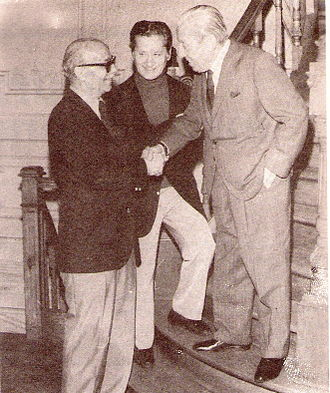Julio de Caro - Old friends, Ernesto Sábato, Ben Molar and Julio de Caro together in 1977