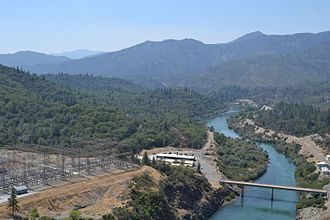Sacramento River - The Sacramento River below Shasta Dam