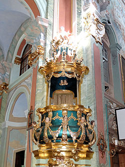 Saint Anne church in Lubartów - Pulpit - 03.jpg