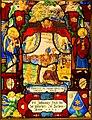Saint Augustine, Swiss, Lachen, 1622, pot metal, glass, silver stain, enamel, sanguine - Princeton University Art Museum - DSC06694.jpg