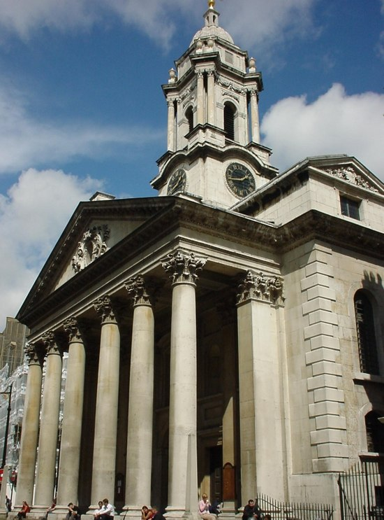 St George Church, London, where Thomas Roseingrave was appointed organist in 1725 Saint George Church, Hanover Square.jpg