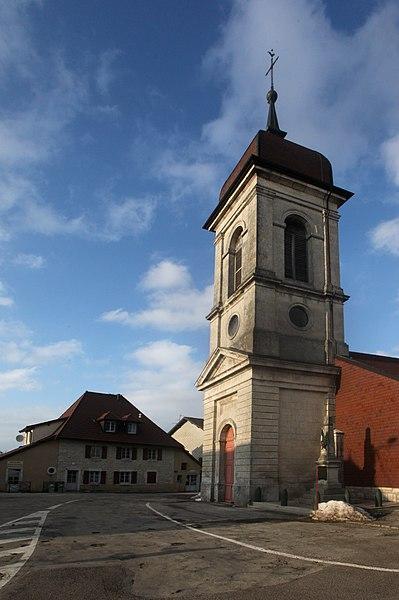 L'église de Sainte-Colombe (Doubs).