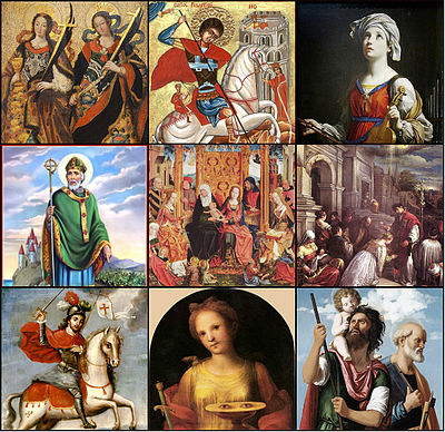 The stories of the saints which are preserved in the Golden Legend Saints of the Golden Legend collage.jpg