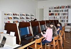 Salle informatique de la bibliothèque d'Art et d'Archéologie de Genève