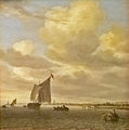 Salomon van Ruysdael - Seascape with sailing boat to the left.jpg