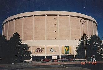 Salt Palace (arena) - Image: Salt Palace, Salt Lake City UT, July 1990