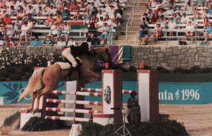 Richard Phelps (pentathlete) - Richard Phelps Riding The Golden Machine at the 1996 Atlanta Olympic Games