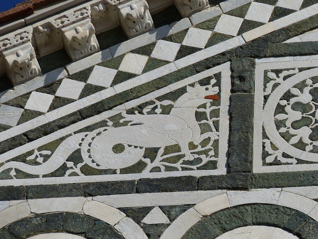 San Miniato al Monte, Firenze, la facciata