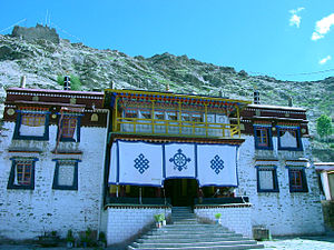 Sanga Monastery - Front of the monastery