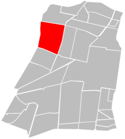 Location of Colonia Obrera (in red) within Cuauhtémoc borough