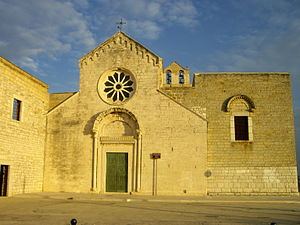 Geoffrey of Taranto - The Romanesque monastery of Santa Maria di Colonna in Trani, founded by Geoffrey.