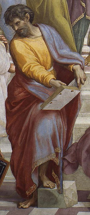 Parmenides - Parmenides. Detail from The School of Athens by Raphael.