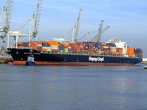 Savannah Express pH, at the Amazone harbour, Port of Rotterdam, Holland 18-Jan-2005.jpg