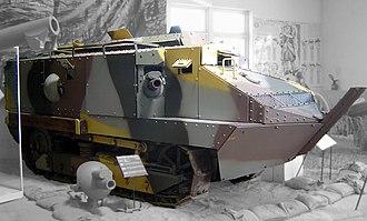 Schneider CA1 - The last surviving Schneider CA in the Musée des Blindés at Saumur