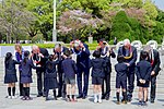 School Children Place Leis Around Secretary Kerry and His G7 Counterparts During Their Visit to the Hiroshima Peace Memorial Park (25758303334).jpg