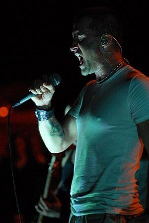 English: Scott Stapp, the former lead singer o...