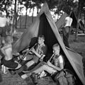 Scouting, tent, musical instrument, clarinet Fortepan 55571.jpg