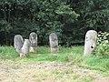 Sculpture in a small riverside park near Grandpont - geograph.org.uk - 774479.jpg