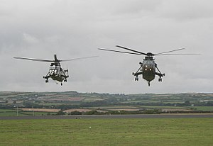 RNAS Culdrose (HMS Seahawk) - Two Sea King helicopters at RNAS Culdrose in 2010