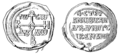 Seal of Stephen, Imperial Kandidatos and Protonotarios of Sicily (Schlumberger, 1889).png