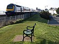 Seat and train, Starcross - geograph.org.uk - 773168.jpg