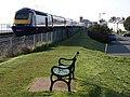 Seat and train, Starcross - geograph.org.uk - 773168.jpg