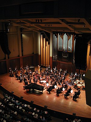 Seattle Symphony - Seattle Symphony on stage in Benaroya Hall in May 2009.