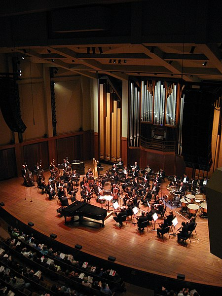 Seattle Symphony holding it down in Benaroya Hall.