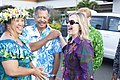 Secretary Clinton With Prime Minister Puna and Mrs. Puna (7922454886).jpg