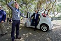 Secretary Kerry Steps Out of a Google Self-Driving Car at the 2016 Global Entrepreneurship Summit's Innovation Marketplace at Stanford University (27786625251).jpg