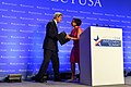 Secretary Kerry Thanks Secretary Pritzker for her Introduction Before Addressing the SelectUSA Investment Summit in Washington (27746068981).jpg