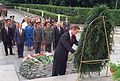 Secretary of Defense William Cohen places a wreath at the Tomb of the Unknown Ukrainian Soldier from World War II 970712-D-WQ296-173.jpg