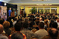 Secretary of State Hillary Rodham Clinton addresses Hawaii-based Service members, civilian leaders, members of the East-West Center and students from local universities 101028-F-LX971-012.jpg