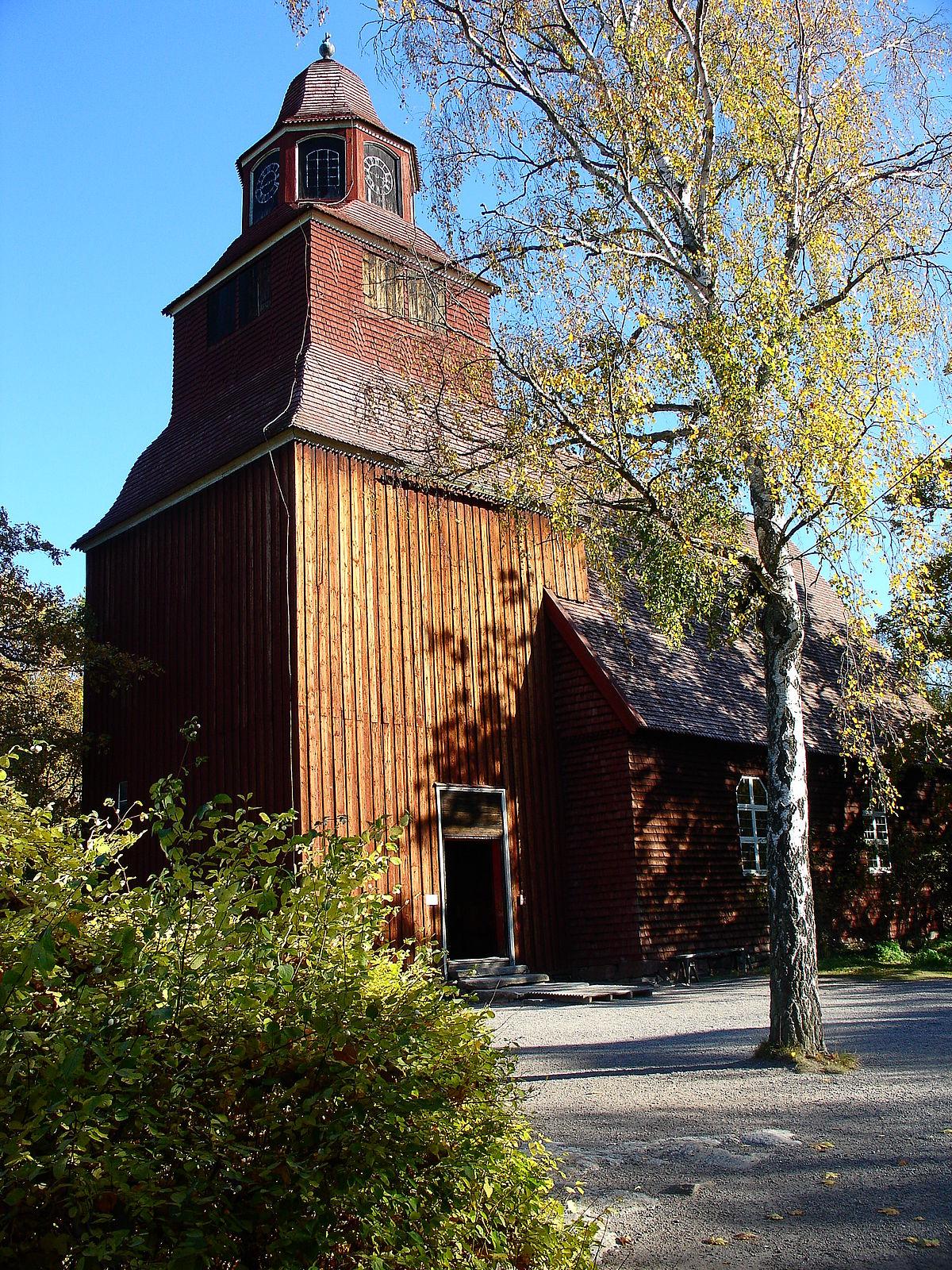 Seglora church, Seglora kyrka, Skansen (Stockholm - Alamy