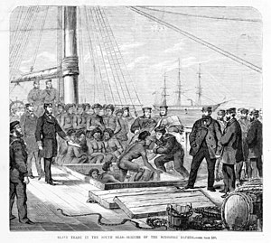 HMS Rosario (1860) - The seizure of the blackbirding schooner Daphne