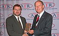 Senator Lamar Alexander receives the Americans for Tax Reform's Hero of the Taxpayer award by Grover Norquist.jpg