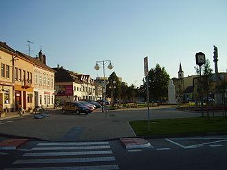 Senec, Slovakia - Town centre of Senec