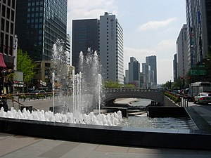 Seoul Capital Area - Image: Seoul Cheonggyecheon 01