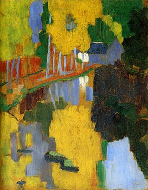 Synthetism - The Talisman, by Paul Sérusier, one of the principal works of the Synthetist school