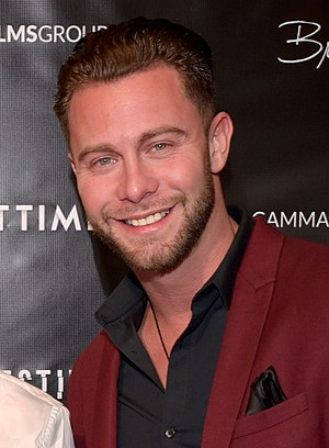 Seth Gamble at the Perspective movie premiere.jpg